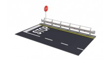 1/24 GUARD RAIL AND ROAD FOR DISPLAY